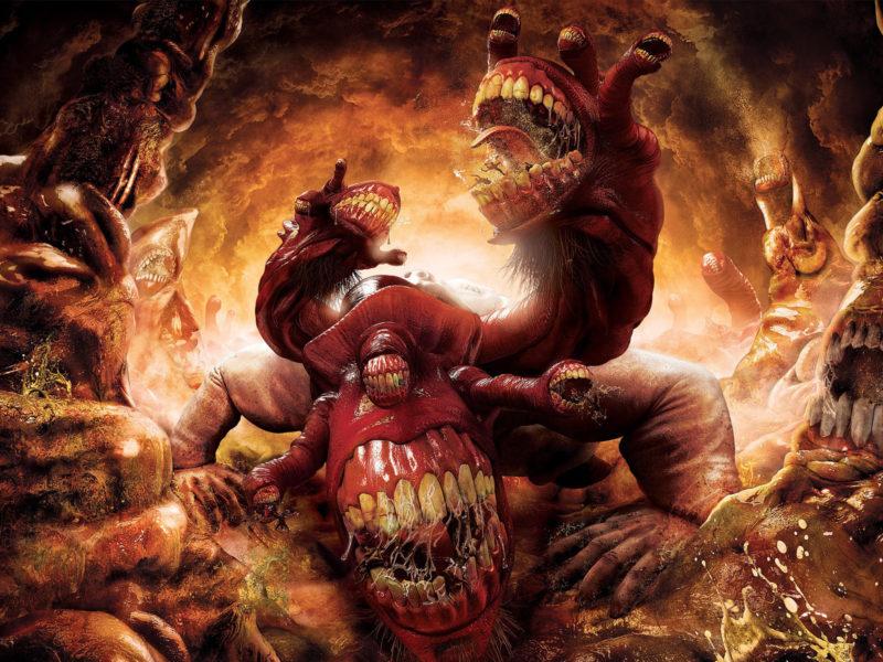 обжорство, Монстр, ад