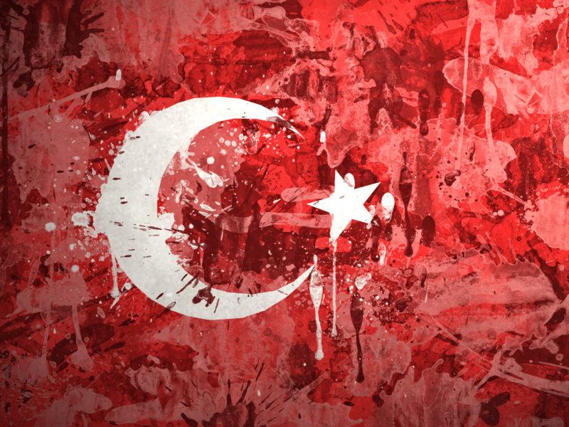 t__rkiye cumhuriyeti, турецкая республика, флаг, краски, Турция