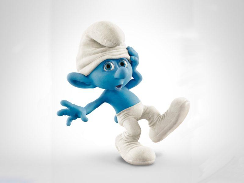 персонаж, кожа, the smurfs, Мультфильм, смурфики, голубая