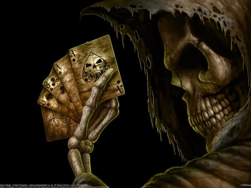 игра, карты, Фентези, смерть