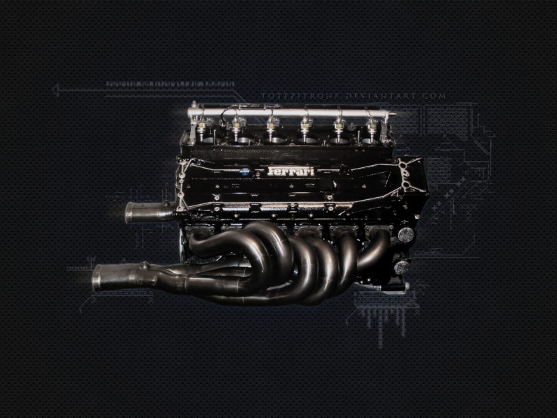 двигатель, ferrari, f1, 1995 f1 engine, Ferrari f1 engine