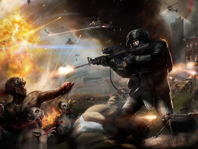 танк, Зомби. битва, солдат, оружие, вертолет, взрыв