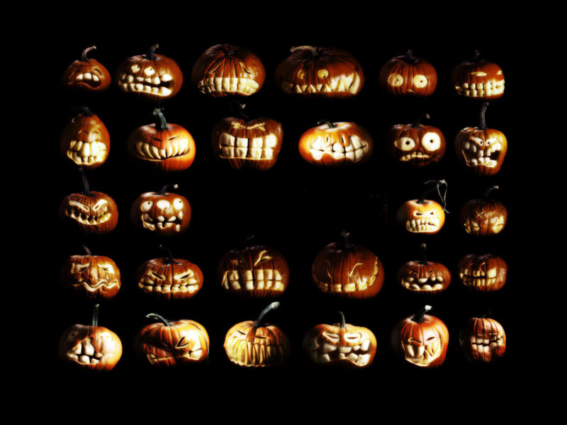 Хэллоуин, тыквы, halloween