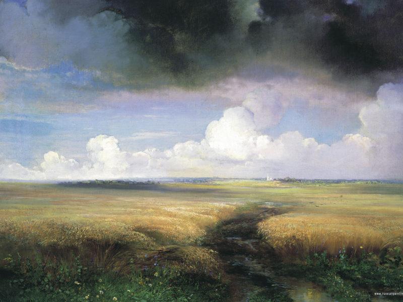 Картины, Облака, Пейзажи, Произведение искусства