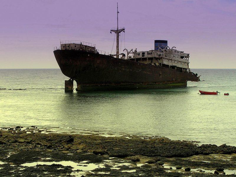 Пейзажи, Корабли, Затонувшие суда, Кораблекрушений, Транспортные средства