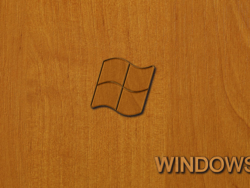 Обои дерево, виндовс, емблема на рабочий стол.
