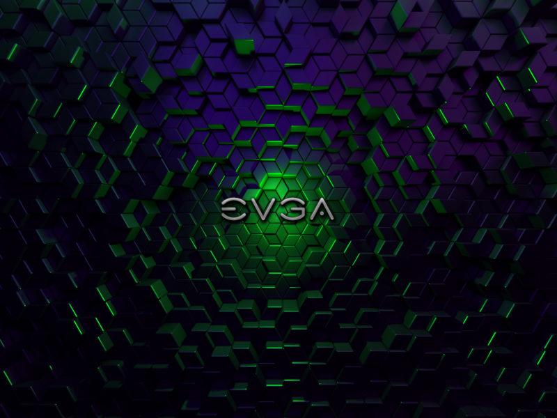 Обои EVGA, лого на рабочий стол.