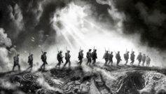 Обои Первая мировая, Солдаты, марш, переход, поле боя, антанта, окопы, дым, война на рабочий стол.