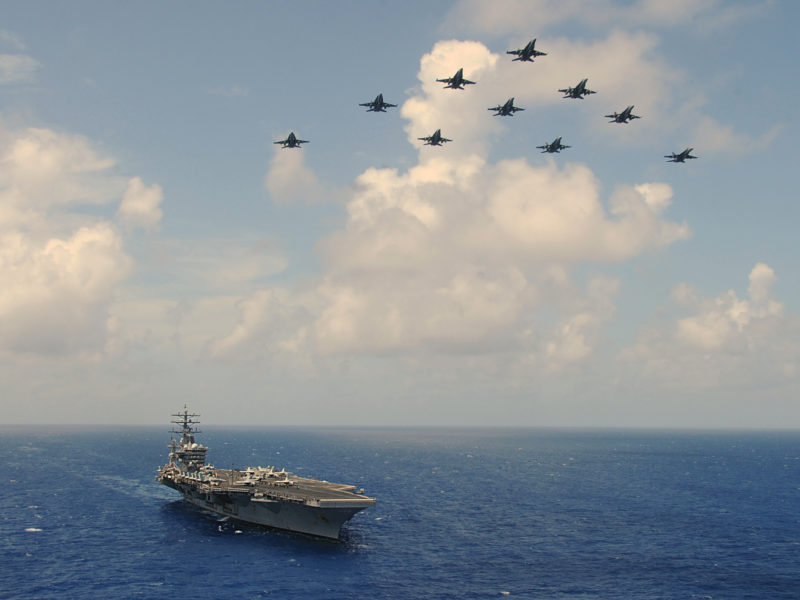 Обои самолёты, авианосец, атомный на рабочий стол.