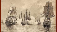 Обои морское сражение, Джейкоб Хагг, графика на рабочий стол.