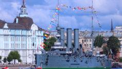 Обои корабль-музей, Аврора, крейсер на рабочий стол.