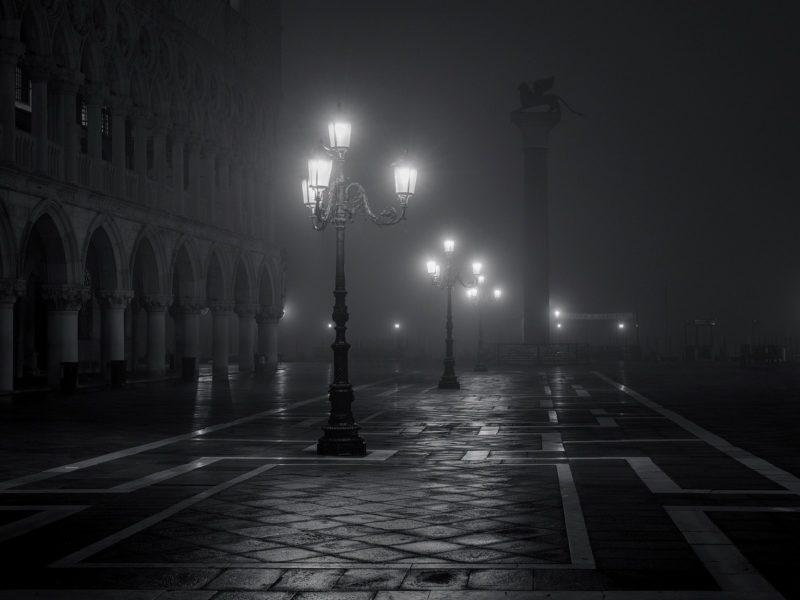 Обои ночь, город, улица, фонари для рабочего стола