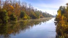Обои осень, река, тишина, погода для рабочего стола