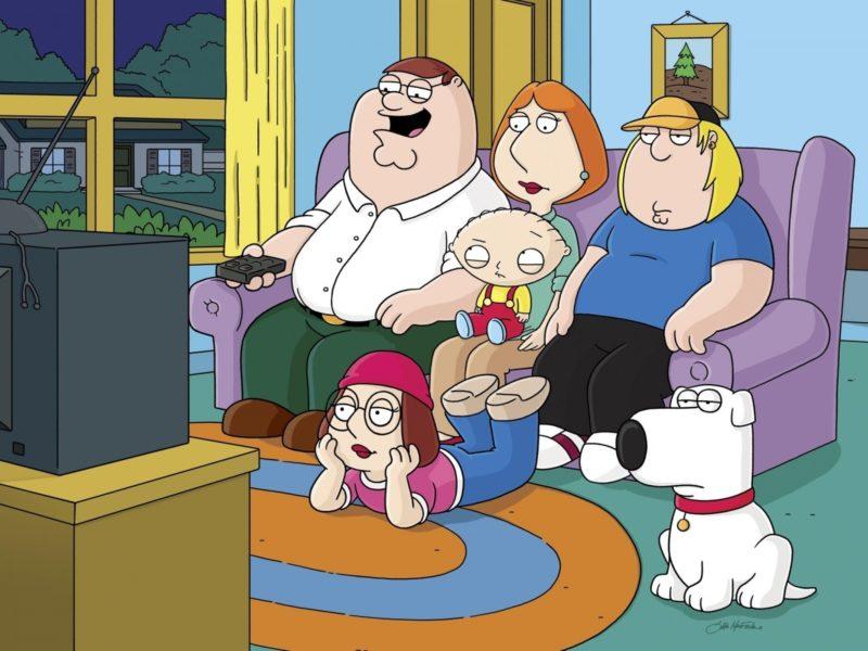 семья, Мультфильм, гриффины, family guy, телевизор