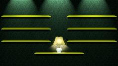 лампа, текстура, обои, зеленый, Полки
