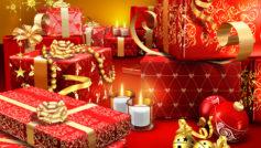 Красный цвет, Рождество, Подарки, Праздники, Украшения