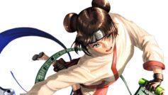 Девушка в кимоно аниме Наруто