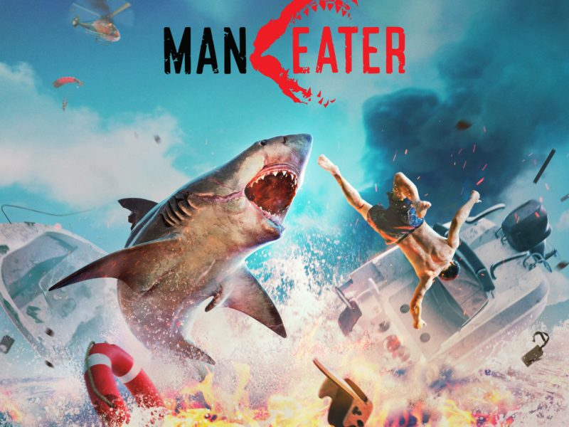 Постер видеоигры Maneater, 2020