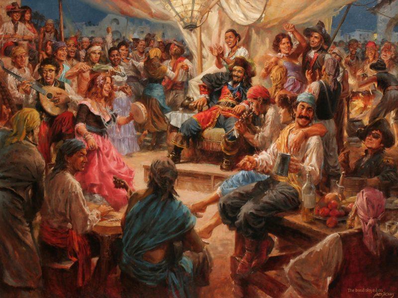 Картины, Пираты, Партия, Группа играла на, Праздник