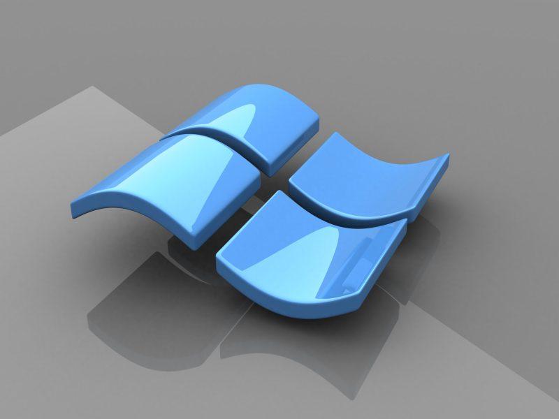 Microsoft Windows, Логотипы, Глянцевая текстура