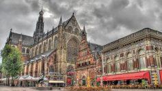 Облака, Деревья, Города, Архитектура, Здания, Европа, Голландия